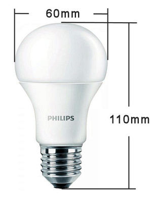 LED-E27, 230V, PHILIPS, 9.5Watt, 806Lumen=60Watt, neutralweiss